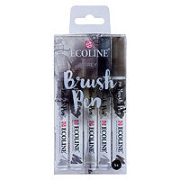 Talens Ecoline Watercolour Brush Pen Greys Set of 5