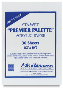 Masterson Sta-Wet Palette Paper Refill 30 sheets/12x16