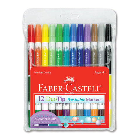 Faber-Castell Duo Tip Washable Markers Set/12