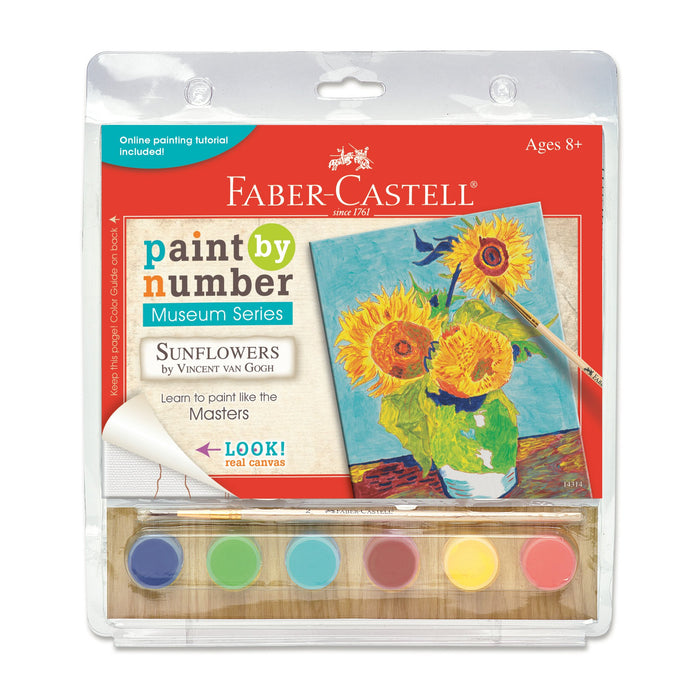 Faber-Castell Paint By Number Sunflowers Kit