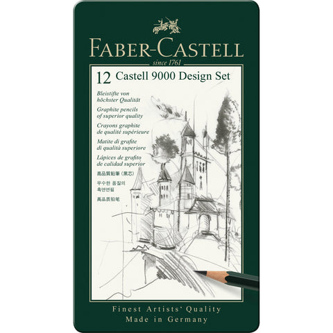 Faber-Castell 9000 Design Graphite Tin Set/12