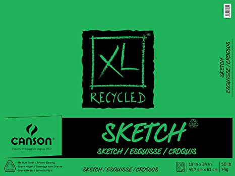 Canson XL Recycled Sketch Pad 18x24