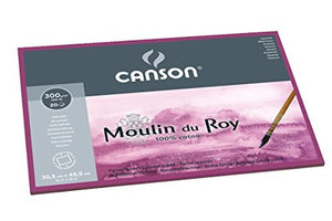 Canson Moulin du Roy Watercolour Paper Hot Press 140lb 12x18
