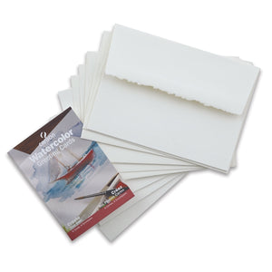 Canson Watercolour Greeting Cards with Envelopes 5x7 6pk