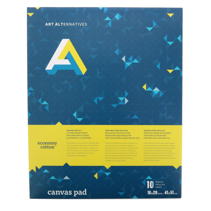Art Alternatives Economy Cotton Canvas Pad 12x16 10 Sheets