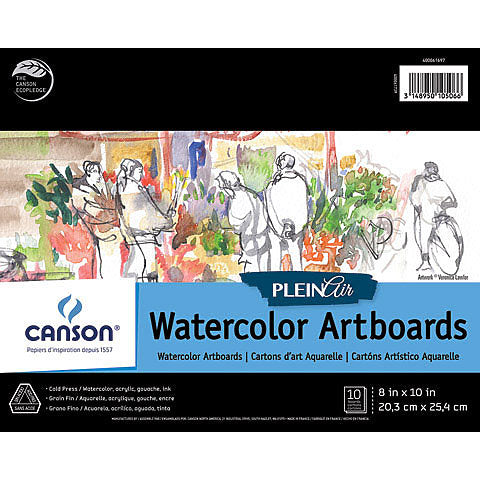 Canson Plein Air Watercolour ArtBoards 8x10