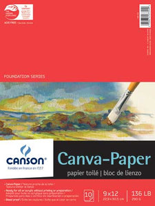 Canson Canvas Paper Pad 16x20