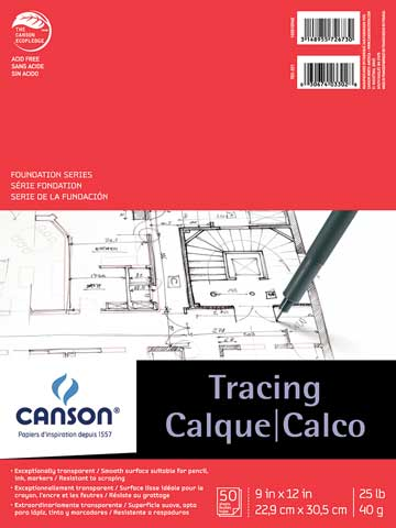 Canson Tracing Paper Pad 14x17 50 Sheets