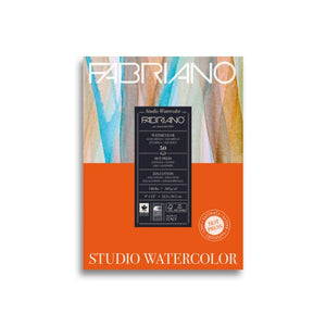 Fabriano Watercolour Paper Pad Hot Press 90lb 9x12 20sh