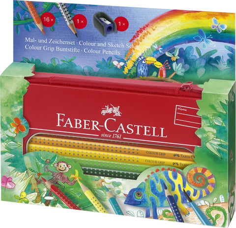 Faber-Castell Grip Painting & Drawing Tin Jungle Set