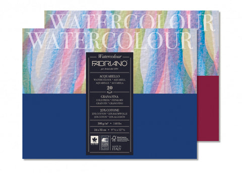 Fabriano Watercolour Studio Block Cold Press 8x16 140lb