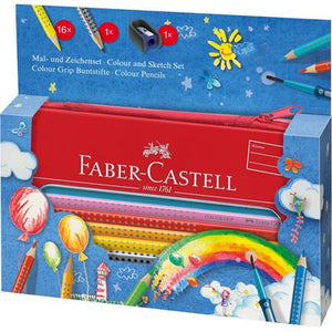 Faber-Castell GRIP Painting & Drawing Tin Balloon Set