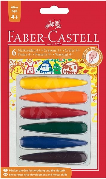 Faber-Castell Pre-School Finger Shaped Crayons Set/6