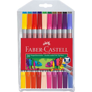 Faber-Castell Double Ended Felt Tipped Pens Set/20