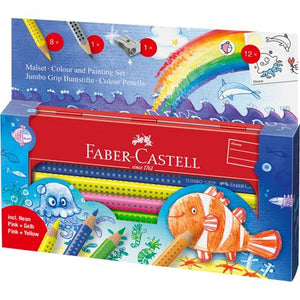 Faber-Castell Jumbo Grip Ocean World Colour and Paint Pencils
