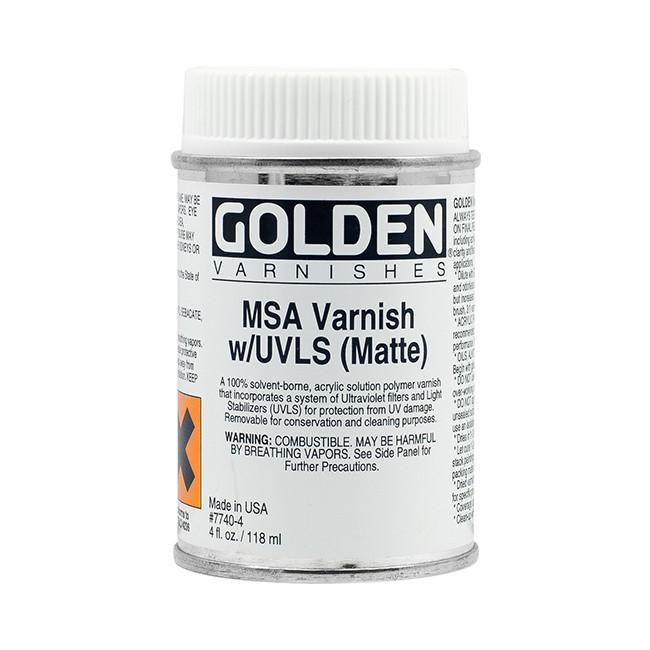 Golden 4oz MSA Varnish Matte