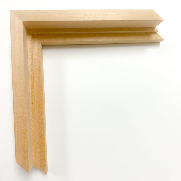 Ready Made Natural Wood Float Frame