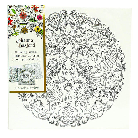 Johanna Basford Coloring Canvas Secret Gard. Hummingbird 12x12