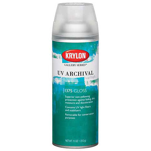 Krylon UV Archival Varnish Semigloss 11oz