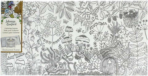 Johanna Basford Coloring Canvas Enchanted For. Mushroom 12x24