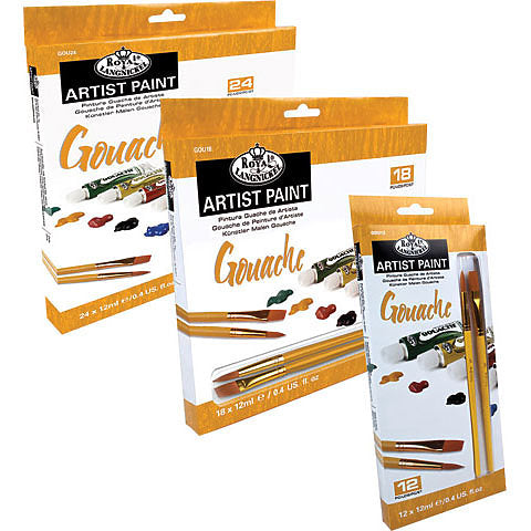 Royal & Langnickel Essentials Gouche Artist Colours 12 x 12ml