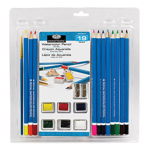 Royal Brush Essentials Watercolor Pencil Art Set