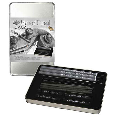 Royal Brush Charcoal Drawing Small Tin Art Set 12pc