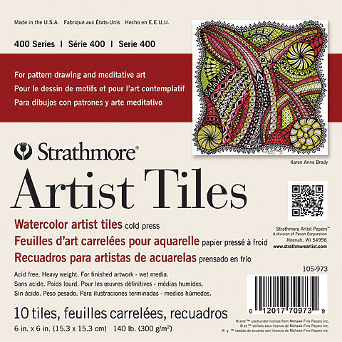 Strathmore Watercolour 400 Art Tiles Pad 6x6