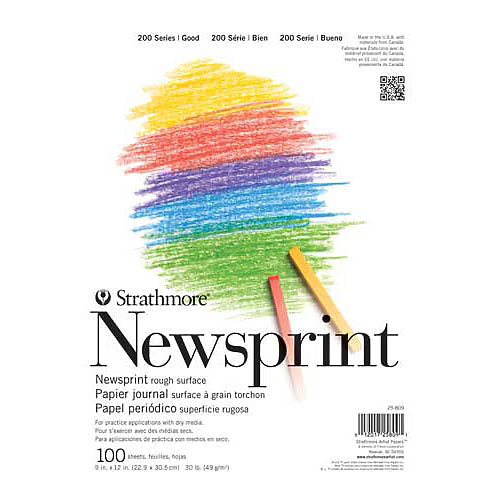 Strathmore Series 200 Newspaper Print Pad 18x24