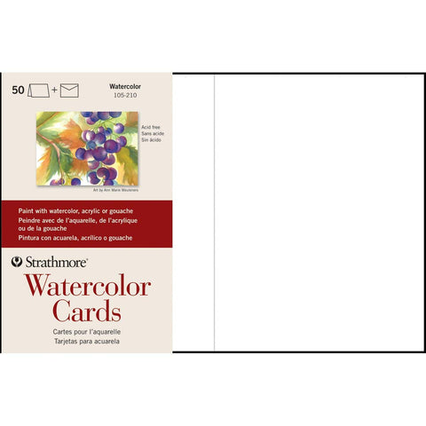 Strathmore Watercolour Cards and Envelopes 50pk