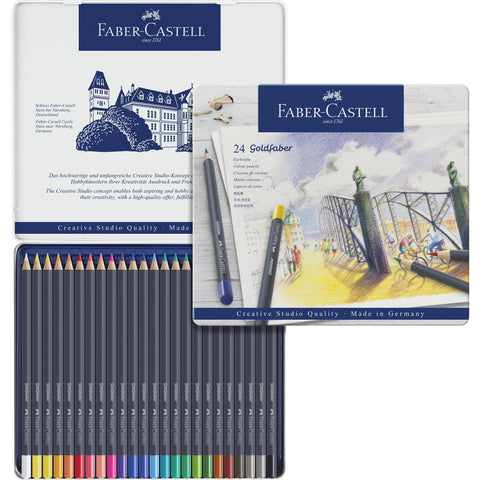 Faber-Castell Goldfaber Colour Pencil Tin Set/24