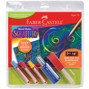 Faber-Castell Mixed Media Sgraffito Scratchboard Kit