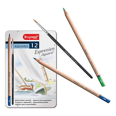 Bruynzeel Expression Watercolour  Pencils Set/12