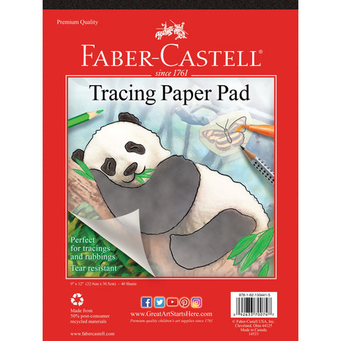 Faber-Castell Tracing Paper Pad 9x12