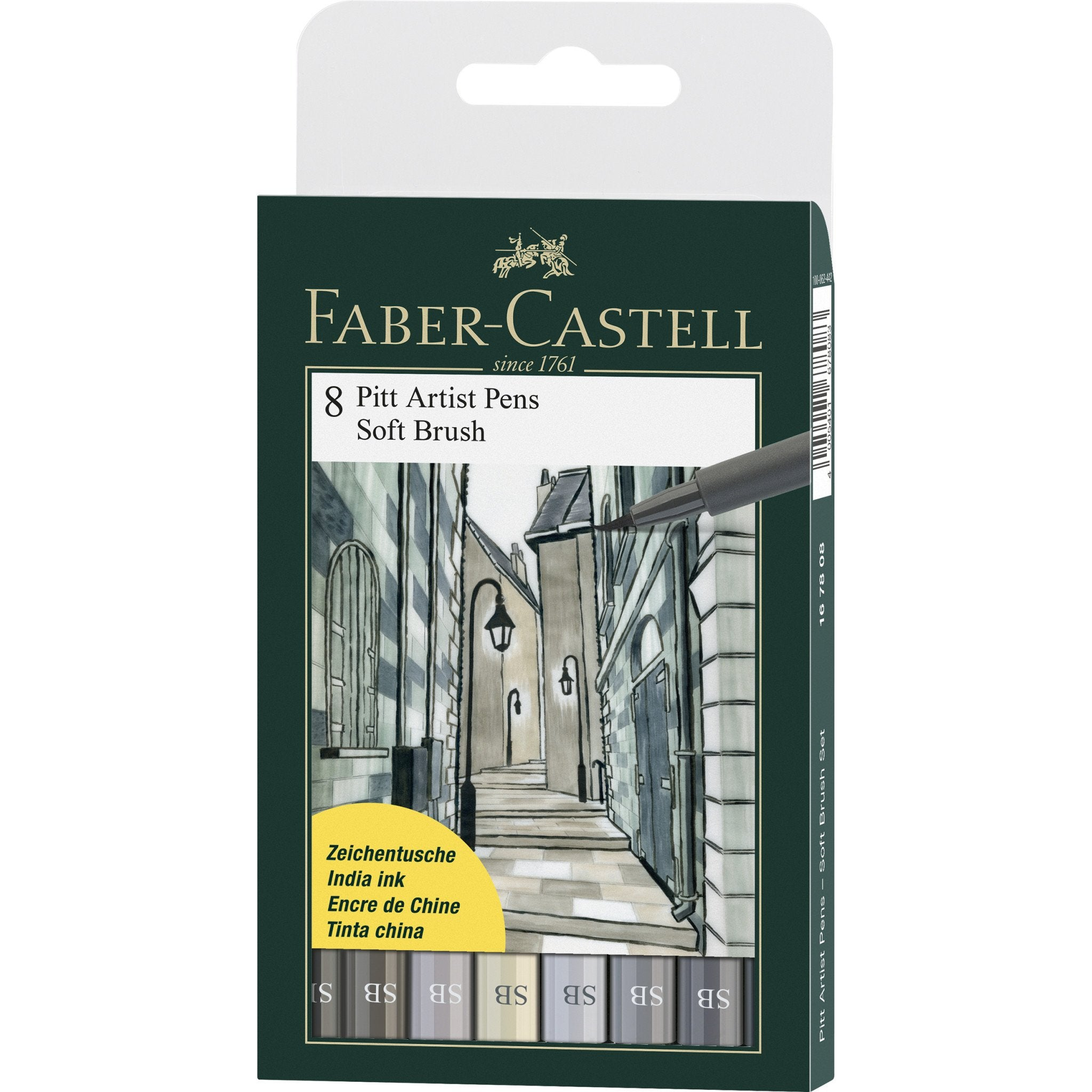 Faber-Castell PITT Artist Pens Soft Brush Set/8