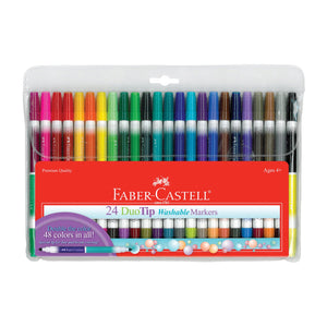 Faber-Castell Duo Tip Washable Markers Set/24