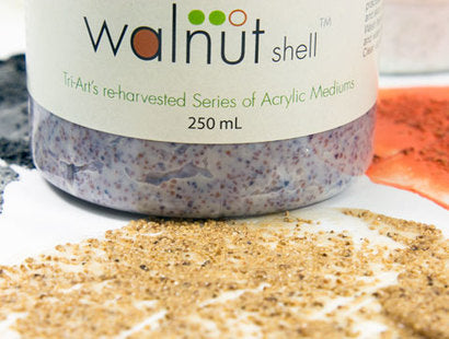 Tri-Art Re-harvested Walnut Shell Medium 250ml