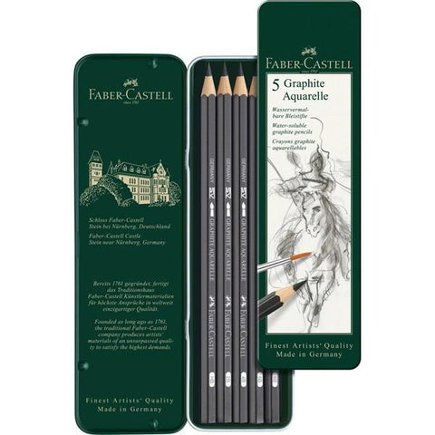 Faber-Castell 9000 Watersoluble Graphite Pencils Set/5