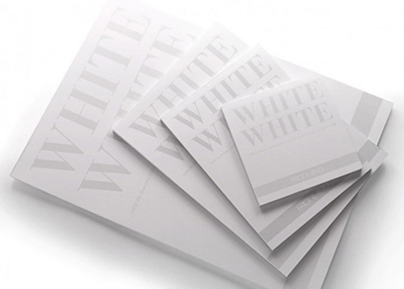 Fabriano White White Drawing Paper Pad 12x16.5
