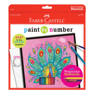 Faber-Castell Paint by Number Peacock Watercolour Pencil Set