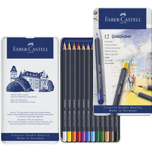 Faber-Castell Goldfaber Colour Pencil Tin Set/12