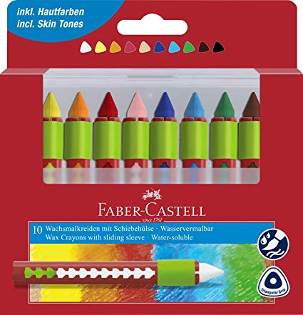 Faber-Castell Watersoluble Wax Crayon Set/10