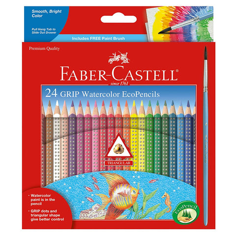 Faber-Castell GRIP Watercolour EcoPencils Set/24