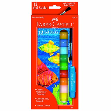 Faber-Castell Gel Sticks With Brush Set/12