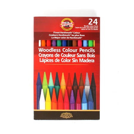 Koh-I-Nor Progresso Woodless Colored Pencil Sets-24