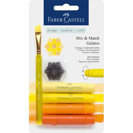 Faber-Castell Watersoluble Gelato Crayons Yellows Set/4