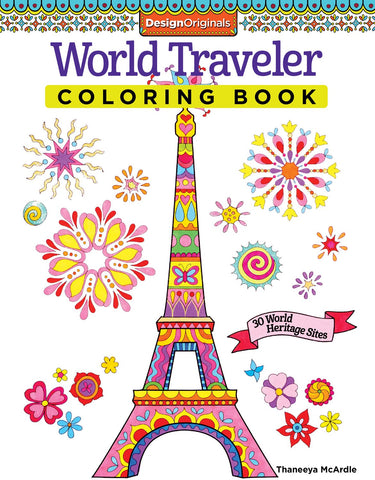 Design Originals World Traveler Colouring Book