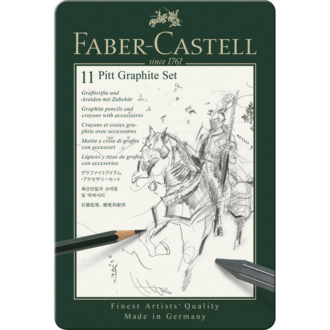 Faber-Castell 9000 Graphite Pencil Tin Set/12