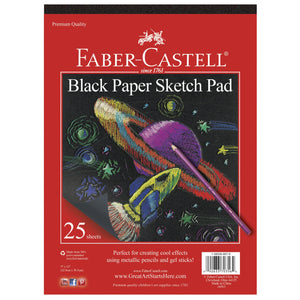 Faber-Castell Black Paper Sketch Pad 9x12