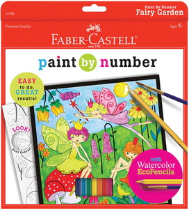 Faber-Castell Watercolour by Number Fairy Garden Set
